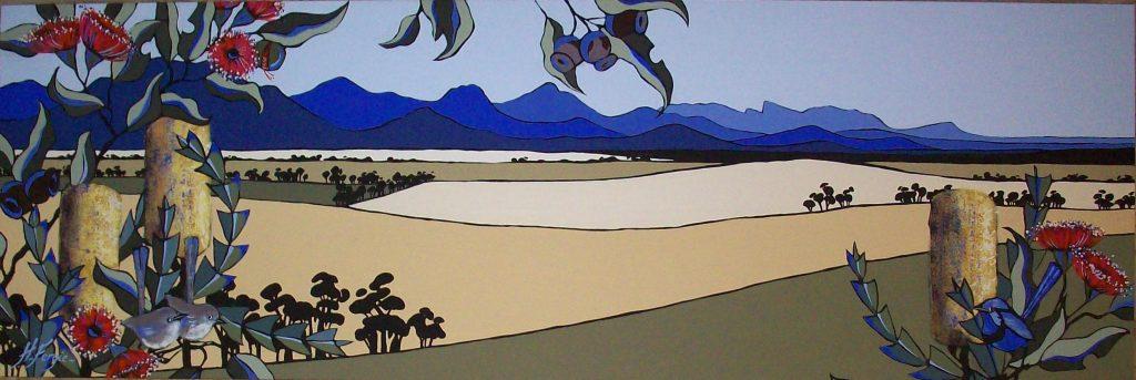 """malarus splendins in eucalyptus ficifolia"""